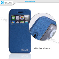 Wholesale high grade flip cover leather phone case for iphone 6