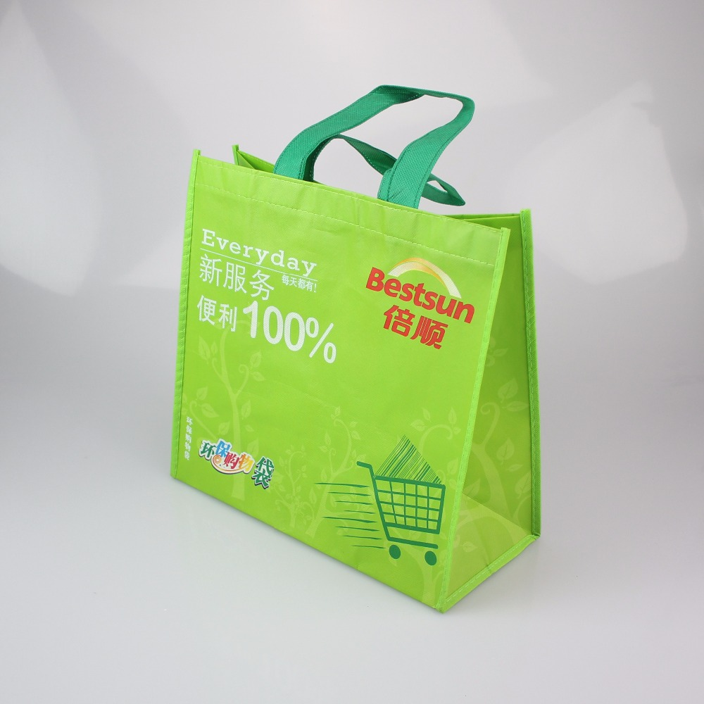 Whole sale custom printed recycled grocery non woven shopping bag