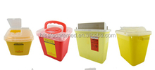 square Plastic medical disposable sharps container, sharps box, medical disposal bins