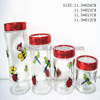 color glass mason jar color glass set colored glass canister sets