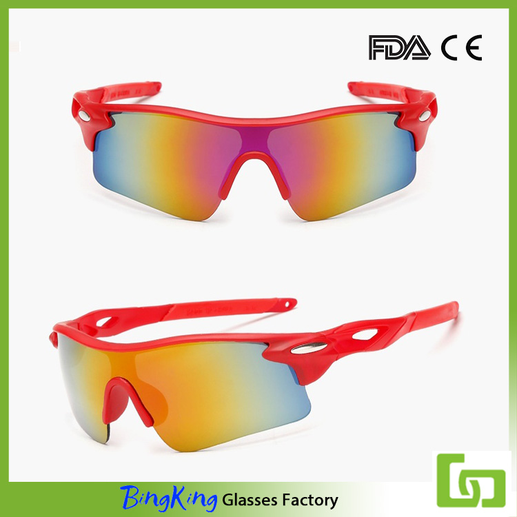 China factory supply high quality colorful mirror lens sports sunglasses
