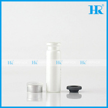 bayonet cap vial glass bottles with white color and butyl rubber stopper