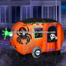 Halloween Inflatable Pumpkin Carriage Decoration