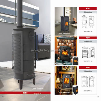 best selling steel plate wood burning modern stove(DL014)