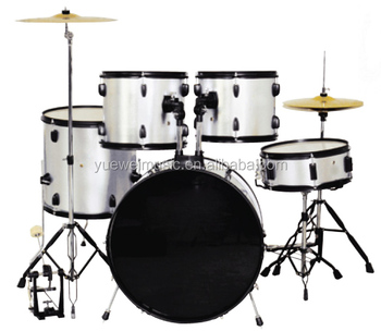 Chrome and Black Hardware Popular Drum Set