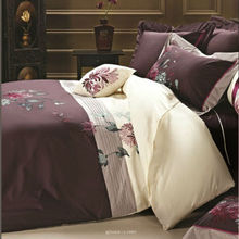 100% cotton embroidery duvet cover set embroidered cheap bed linen sets home textile nantong manufacture in china