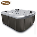 6 People commercial rectangle acrylic whirlpool masage family outdoor hot tub spa