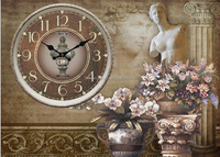 New desgin painting clock meter box decorative wall clock
