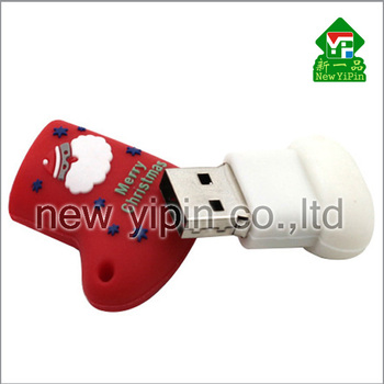 2016 high quality Christmas stocking shape USB flash drive hot sale OTG USB