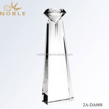 Optical Clear Obelisk Diamond Crystal Award Trophy