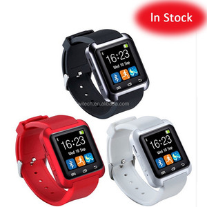 Free sample wholesale ce rohs stock cheap colorful u8 smart watch with camera and sim card slot