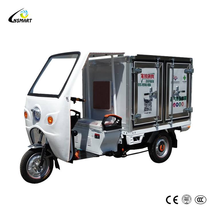 800W China cargo electric tricycle and tuk tuk cargo tricycle electric chassis for sale