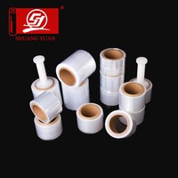 mini handle wraped film,cling handle stretch warped films transparent color