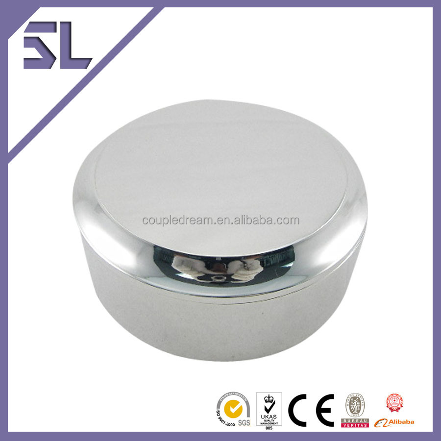Custom Made Logo Printed Round Shape Metal Jewelry Gift Boxes
