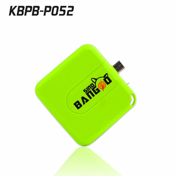 Pocket size one time use battery pack power bank