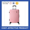 2 pcs sets colorful pink ABS PC luggage trolley bag