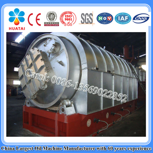 Continuous Waste Rubber/Plastic/Tire Pyrolysis Plant to Fuel Oil, Carbon Black and Steel Wires