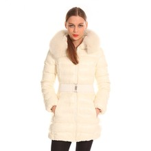 White Quality-Assured Long Down Jacket Women Winter