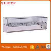 Salad bar/ refrigerator/ salad display counter/ Buffet Display Made in China