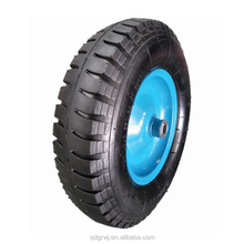 "rubber wheelbarrow tyre/tire 16""x 4.00-8 with steel rim"