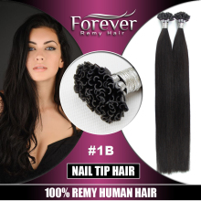 Factory Price Top Quality Remy Virgin 8inch-30inch keratin U-tip/Nail-tip Pre Bonded Human Hair Extension
