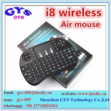 backlight 2.4g rii mini i8 wireless controller air fly mouse for android tv box
