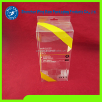 Clear customized plastic electronic folding box PET/PVC/PP acetate packaging boxes for cell phone case