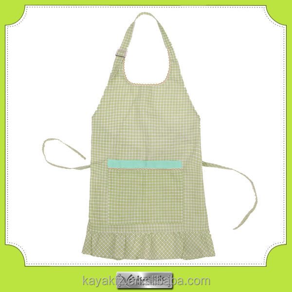 Custom promotional pongee polyester girl apron