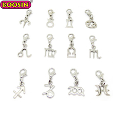 Jewelry Making 12pcs of Set Alloy Zodiac Star Lucky Charm Zodiac Signs Charms #14211