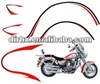 Transparent colorful OEM bike logo sticker