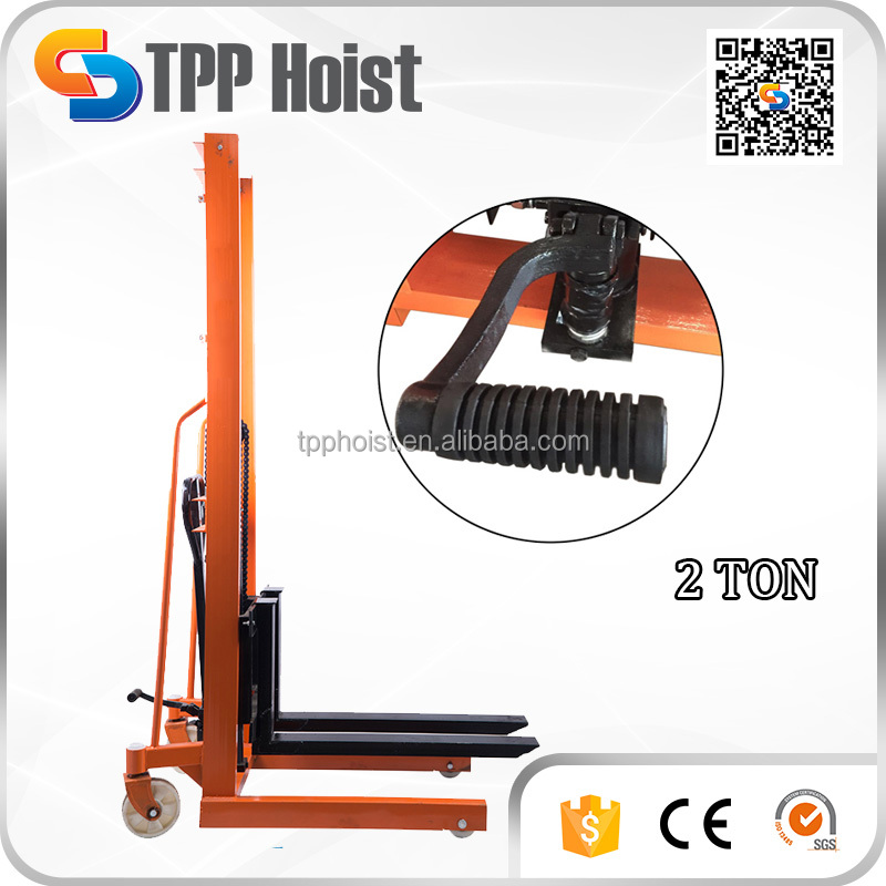 New Arrival 2 Ton Hand Manual Hydraulic Forklift CTY2000 Factory Price