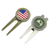 wholesale custom metal unique blank golf divot tools