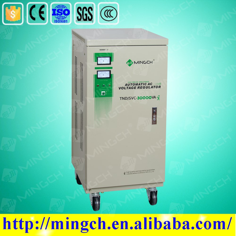 CE ROHS approved 30KVA vertical style full-auto high precision automatic stabilisateur