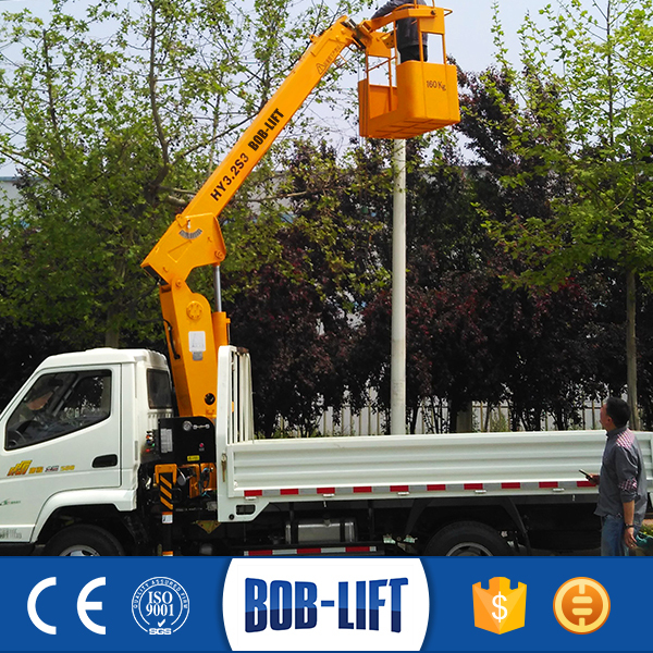 Hydraulic Truck Mounted Man Basket Crane for Sale
