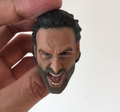Custom unpainted plastic scream head sculpt for 12inch figure/Create Sculpture Plastic Figures head Model handmade