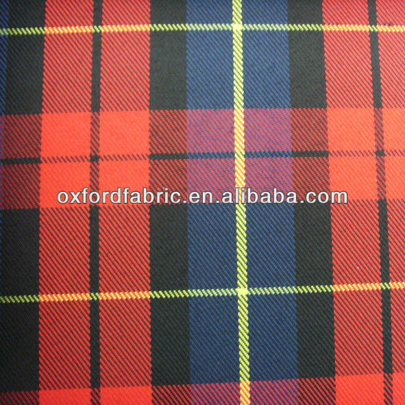 wholesale polyester check fabric /145cm~175cm wide raincoat fabric waterproof fabric