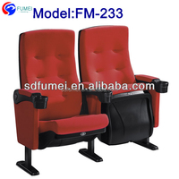3d folding theatre seat cinema with cup holder