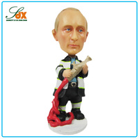 Custom 3D resin royal president Putin dashboard bobble head figure