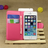 Fashion new products pu leather wallet cover case for iphone5