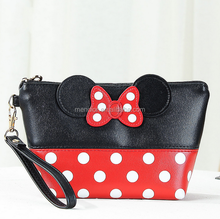 Mendior Hot sale cartoon Mickey Mouse makeup women hand bags funny makeup cosmetic bag