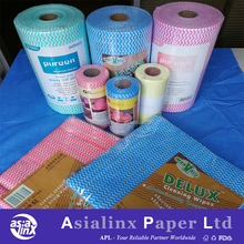 China Factory Wholesale Spunlace Nonwoven Cleaning Wiping Cloth in Perforated Sheets & Rolls for Household Kitchen Cleaning