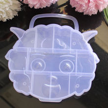 Clear Plastic Pleasant Sheep Jewelry Box Case Jewelry Bead Storage Container Craft Organizer 13 Slots