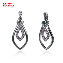 Elegant Fashion Ear Rings Women Grace Jewelry Accessories Girls Charm Zircon Dangle Earring