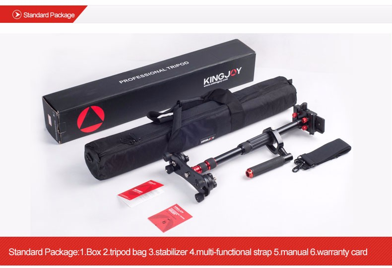 KINGJOY Professional DSLR Video Camera Stabilizer VS1047 with Arm for Photography