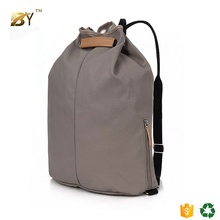 2017 customized promotional leather sport school backpack polyester drawstring bag