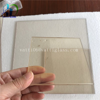 High temperature 850 degress ceramic glass resistant Robax 4mm 5mm 6mm For infrared heater box
