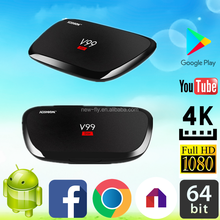 high quality Android 5.1 Smart TV Box Factory directly sell V99 Star RK3368 2G 16G V99 Star tv box