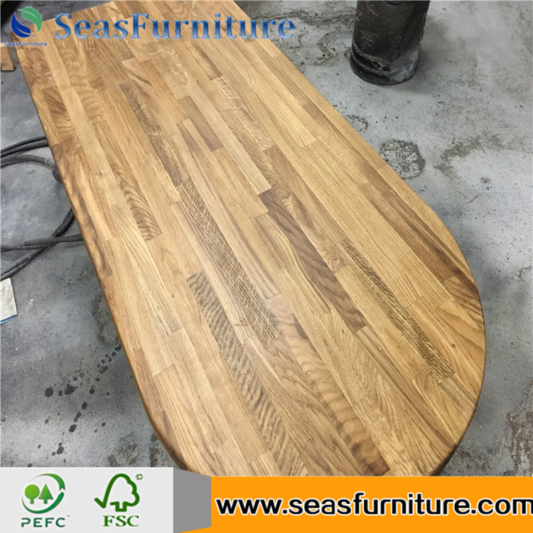 Solid Wood oval table top wood table tops for sale Africa rorewood finger joint table top