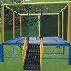 Fitness Trampoline With Handle Rectangle Trampoline