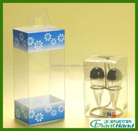 Custom packaging clear PVC PET transparent folding plastic packaging box